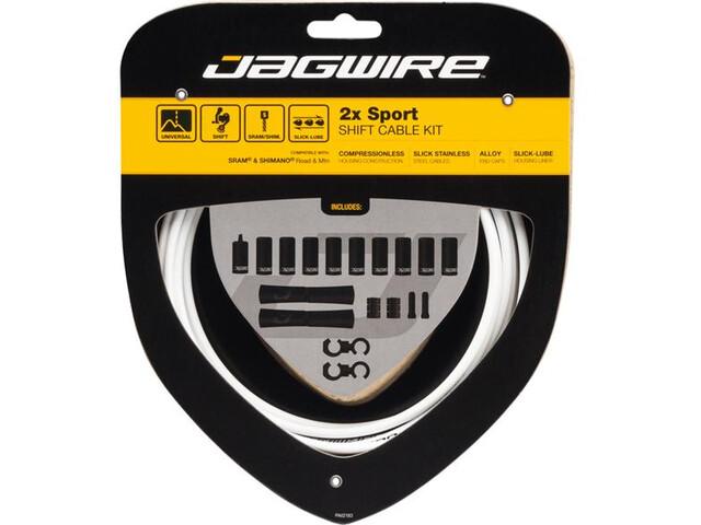 Jagwire 2X Sport Shift Gearkabelsæt Til Shimano/SRAM, white